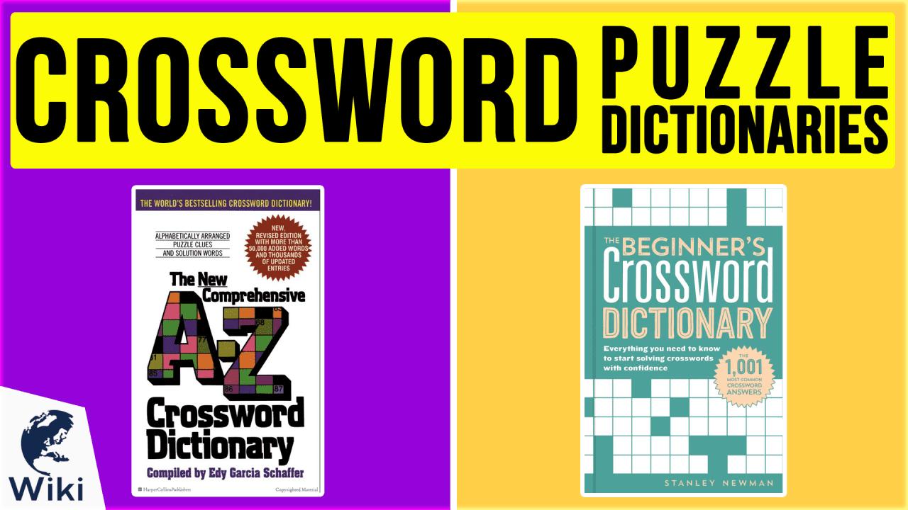 10 Best Crossword Puzzle Dictionaries