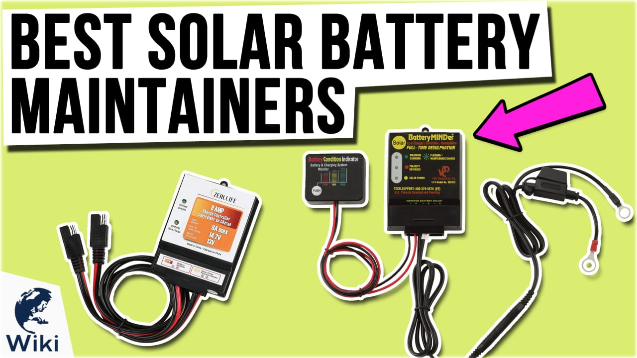 10 Best Solar Battery Maintainers
