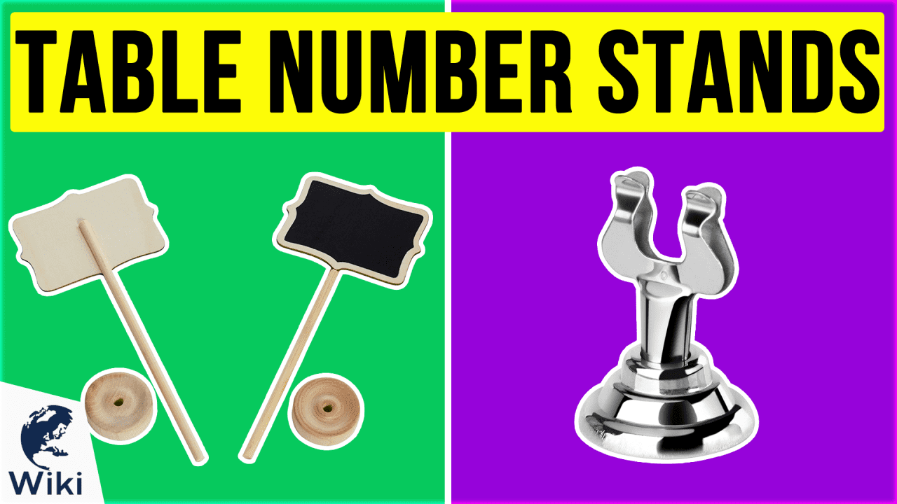 10 Best Table Number Stands