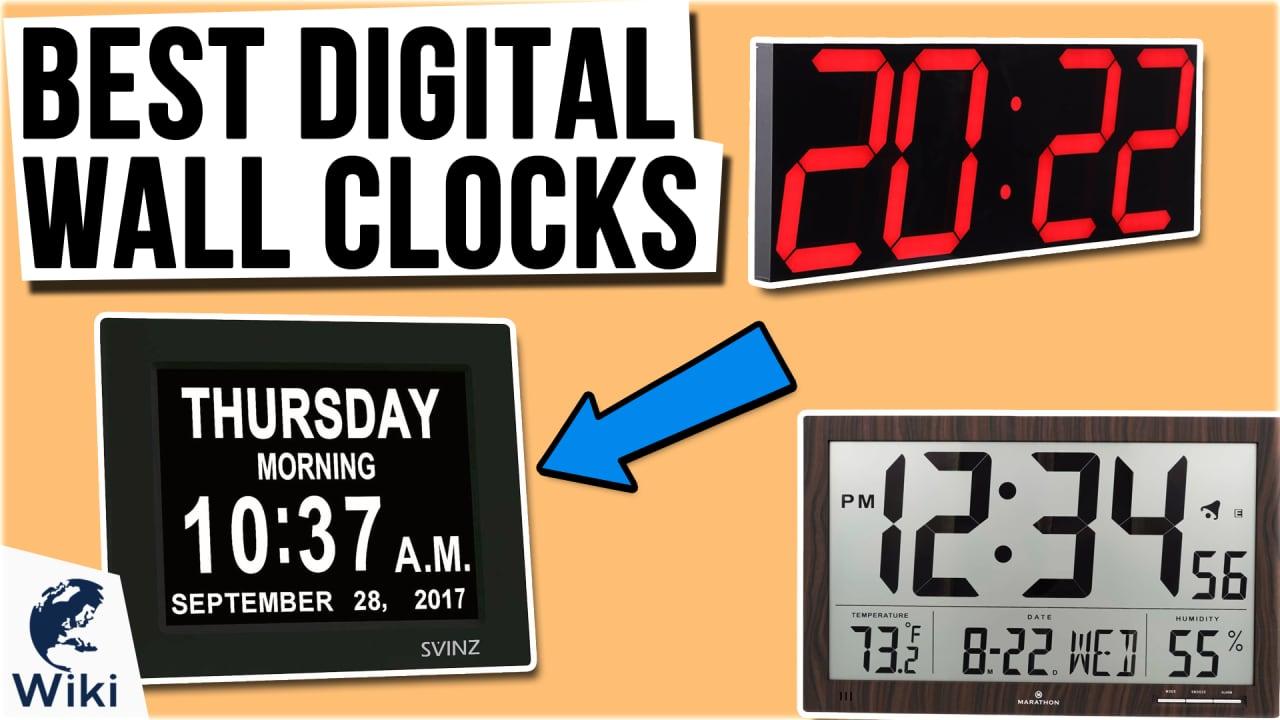 10 Best Digital Wall Clocks