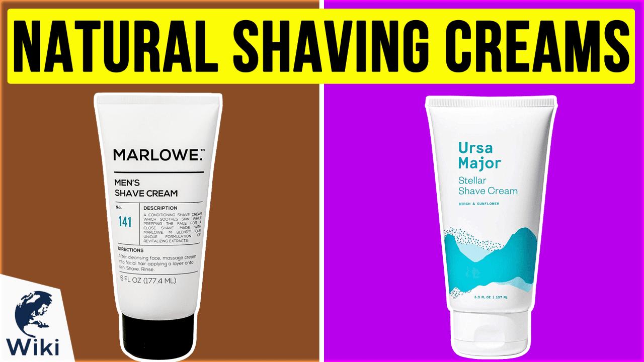 10 Best Natural Shaving Creams