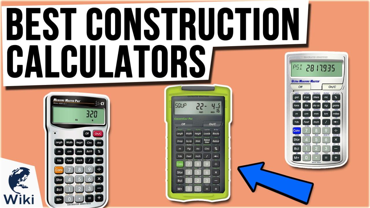 9 Best Construction Calculators