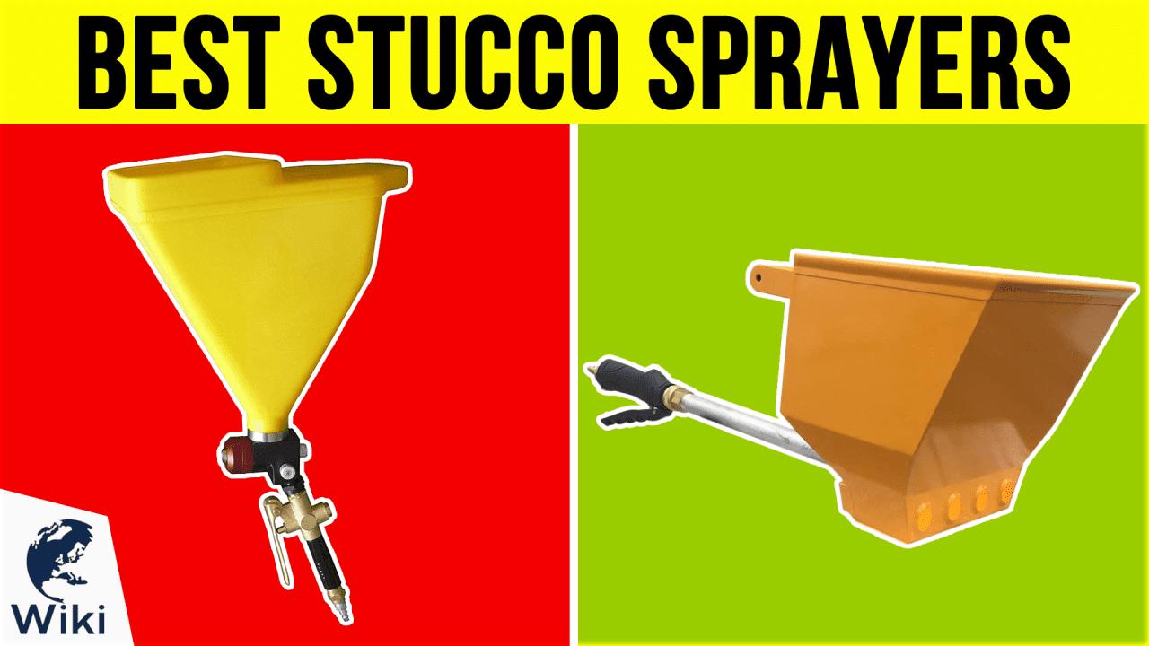 8 Best Stucco Sprayers