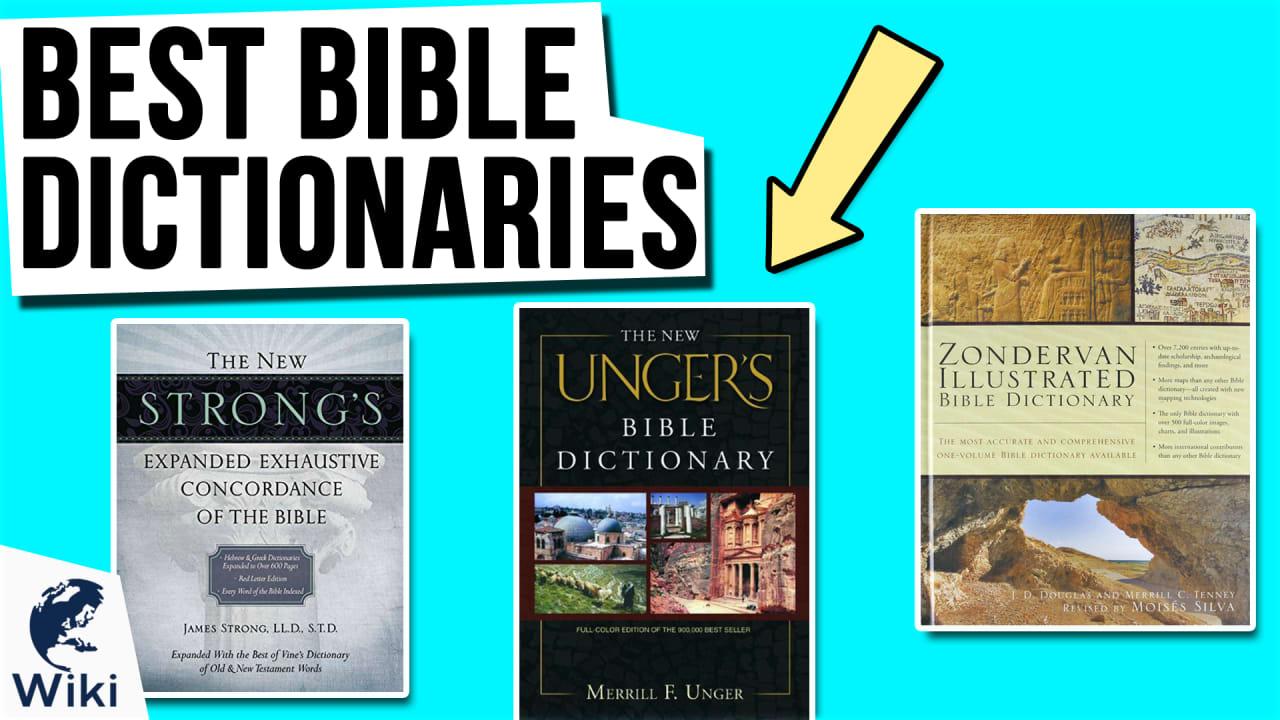 10 Best Bible Dictionaries