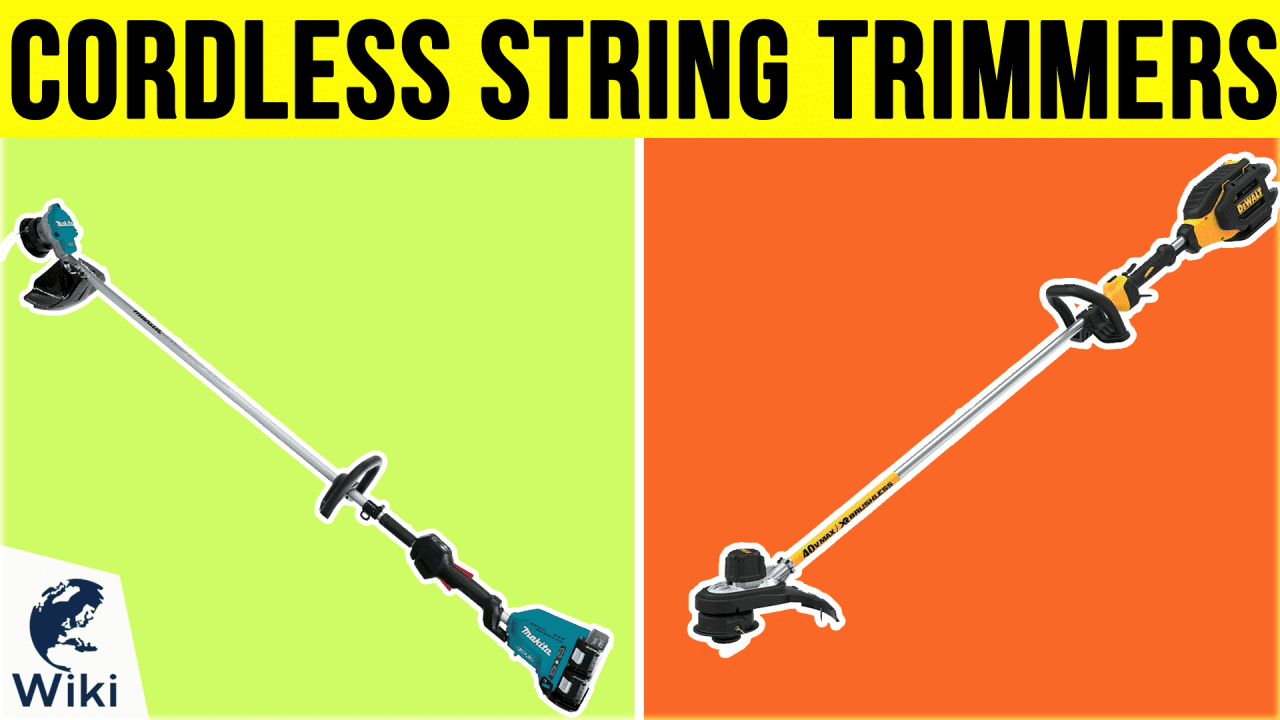 10 Best Cordless String Trimmers
