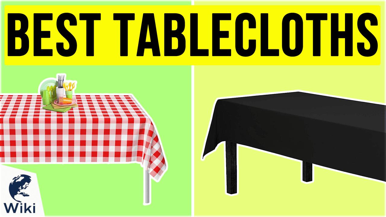 10 Best Tablecloths