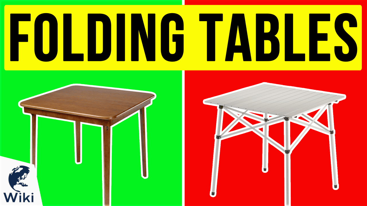10 Best Folding Tables