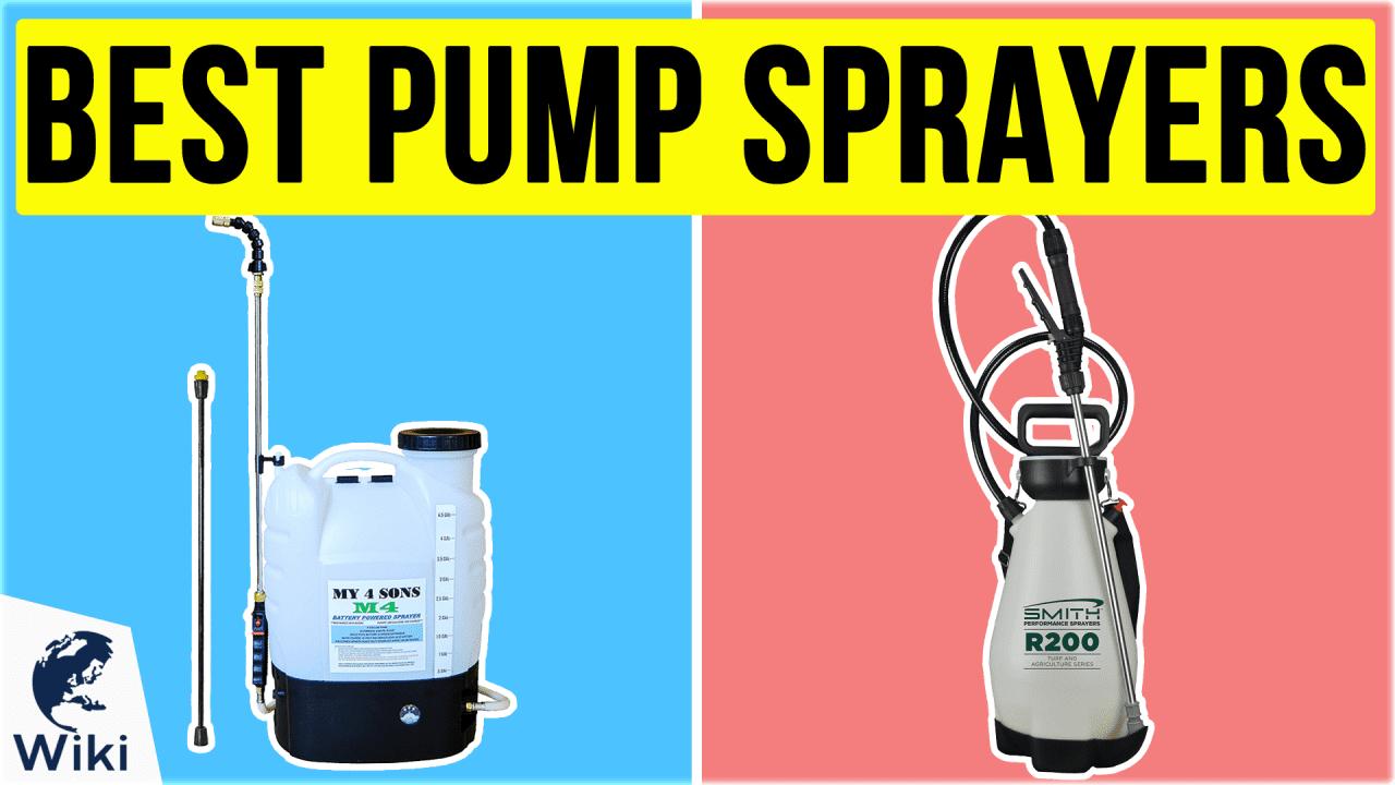 10 Best Pump Sprayers