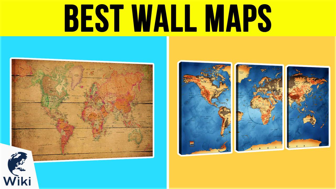 10 Best Wall Maps