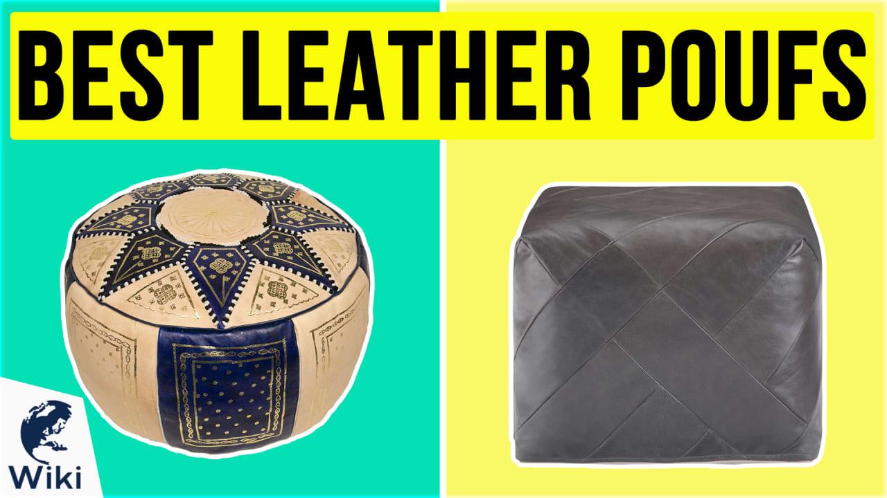 10 Best Leather Poufs