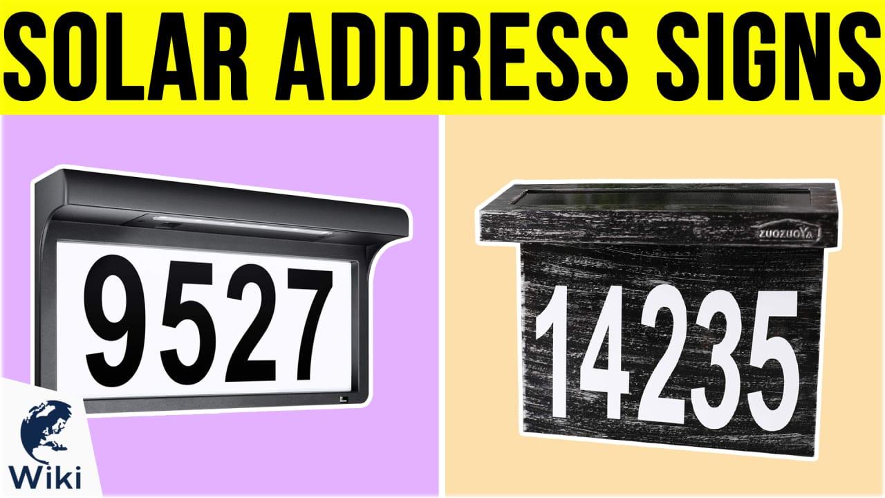 7 Best Solar Address Signs
