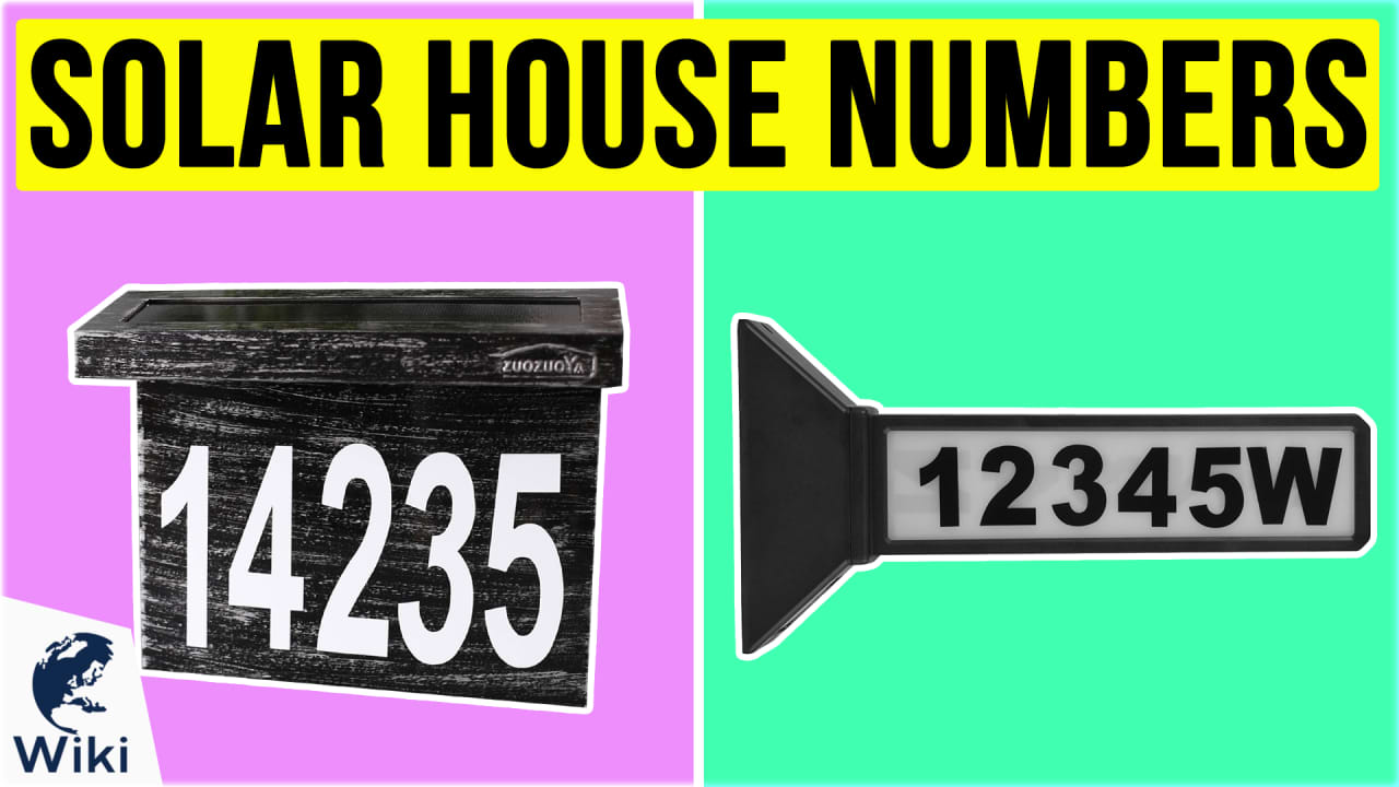 6 Best Solar House Numbers