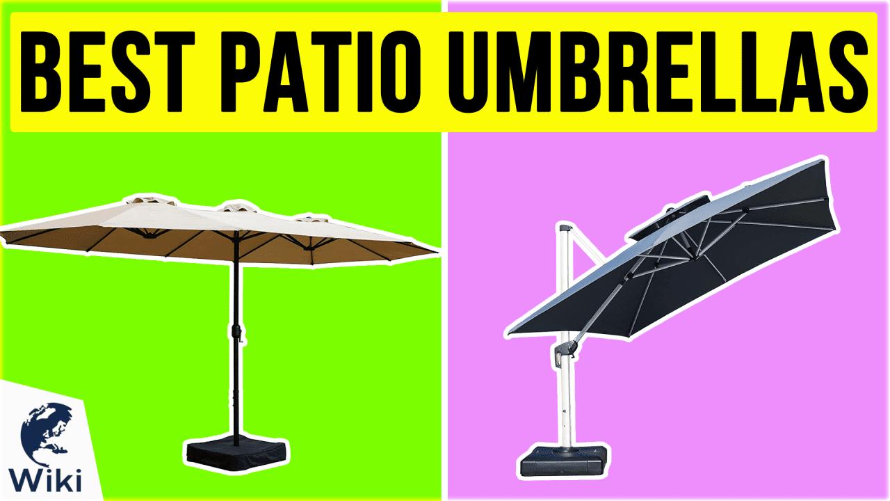 10 Best Patio Umbrellas