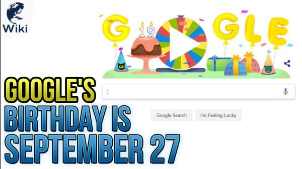 Google's Birthday Is September 27