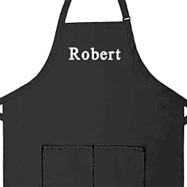Apron Place Embroidered
