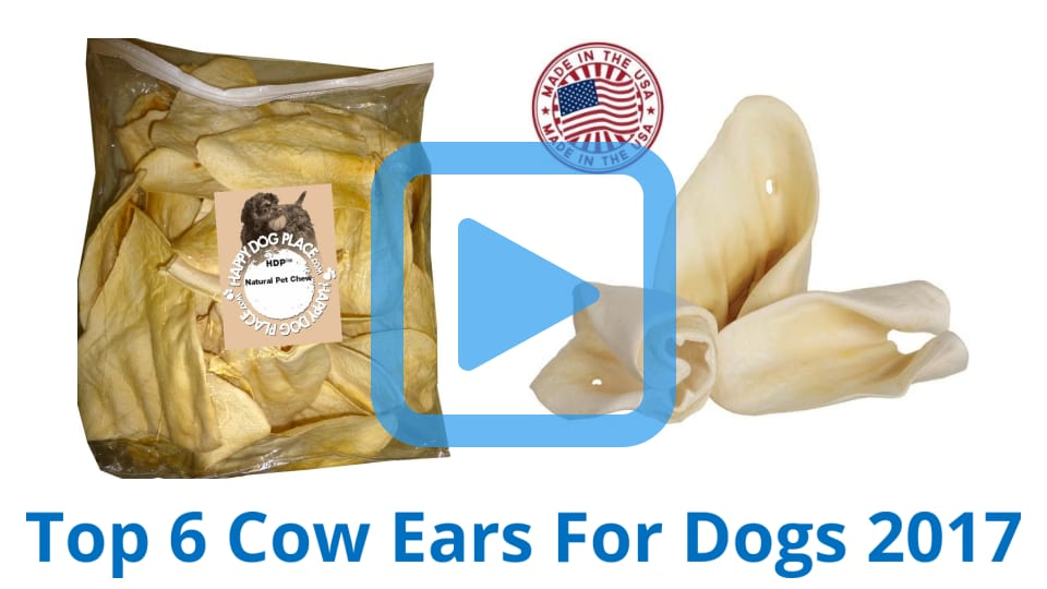 top 6 cow ears for dogs of 2017 video review. Black Bedroom Furniture Sets. Home Design Ideas
