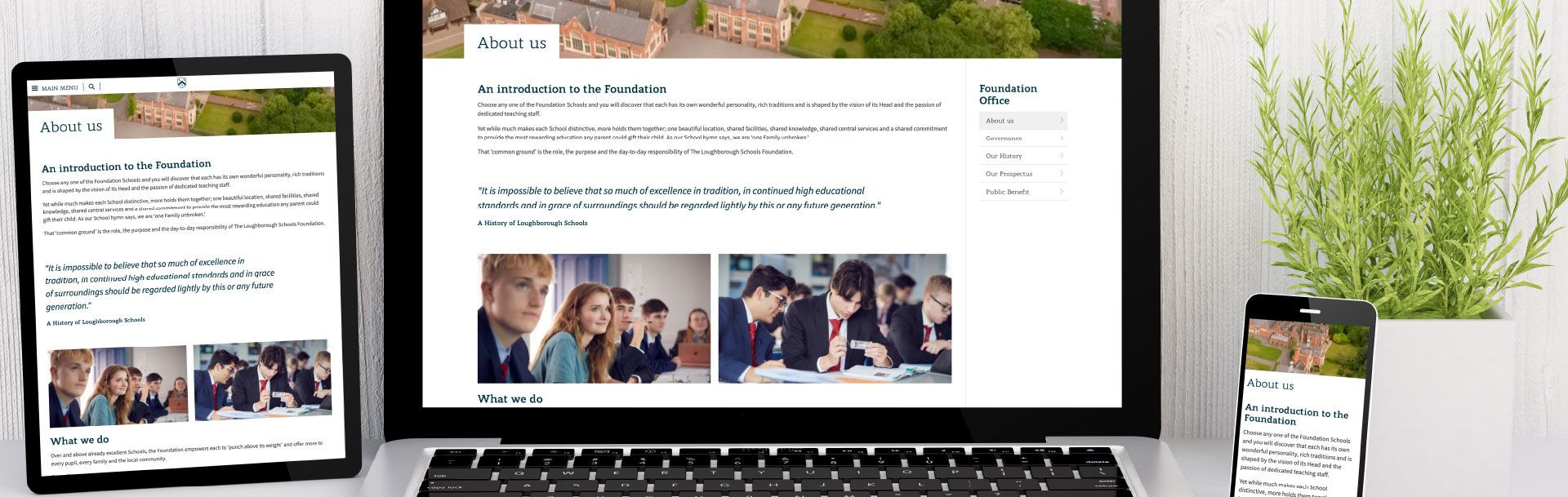 Loughborough Schools Foundation Header