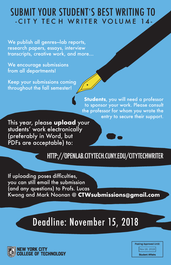 City Tech Writers Poster