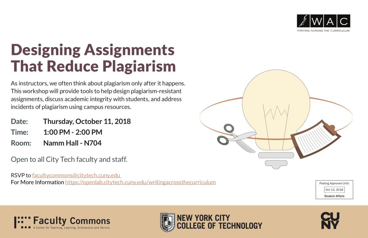 WAC avoiding plagiarism poster