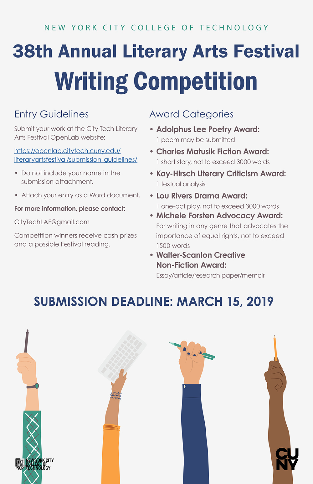 38th Annual Literary Arts Festival Writing Competition 1