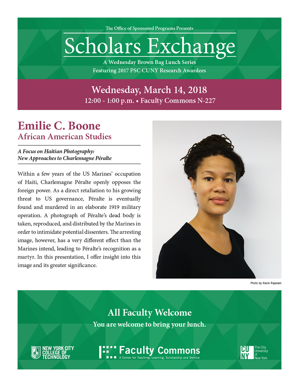 Scholars Exchange presents Emilie Boone 1