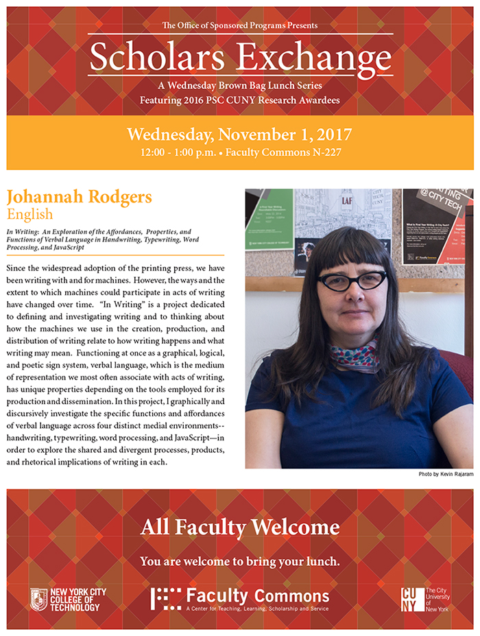 Scholars Exchange features Johanna Rodgers