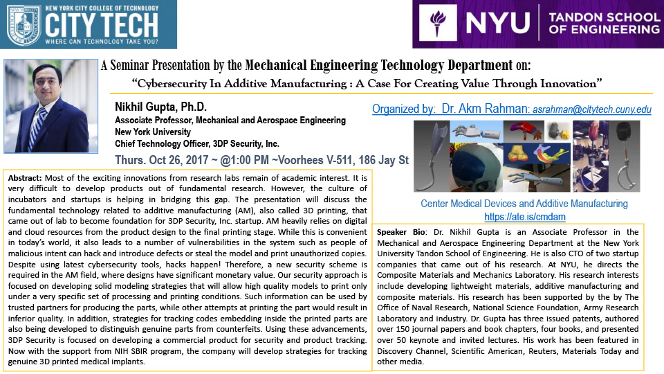 Mechanical Engineering Seminar