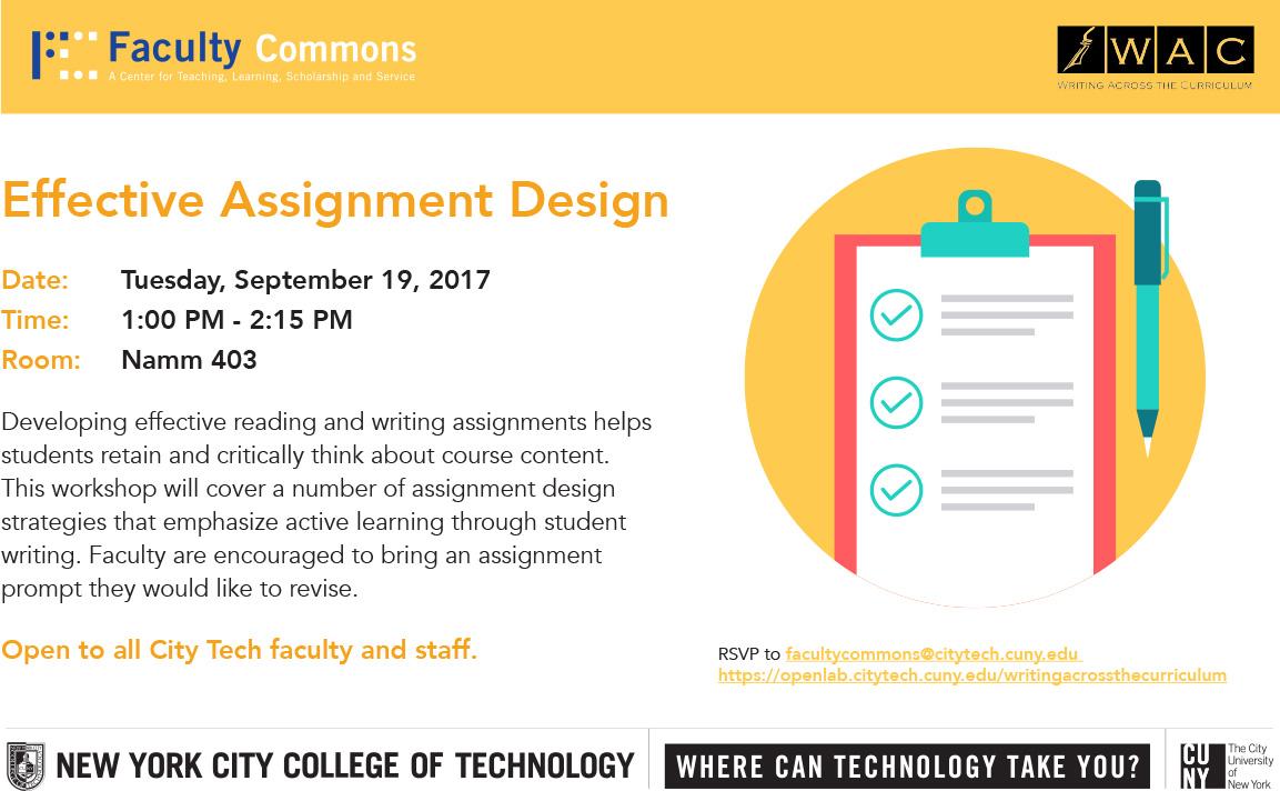 Effective Assignment Design Workshop