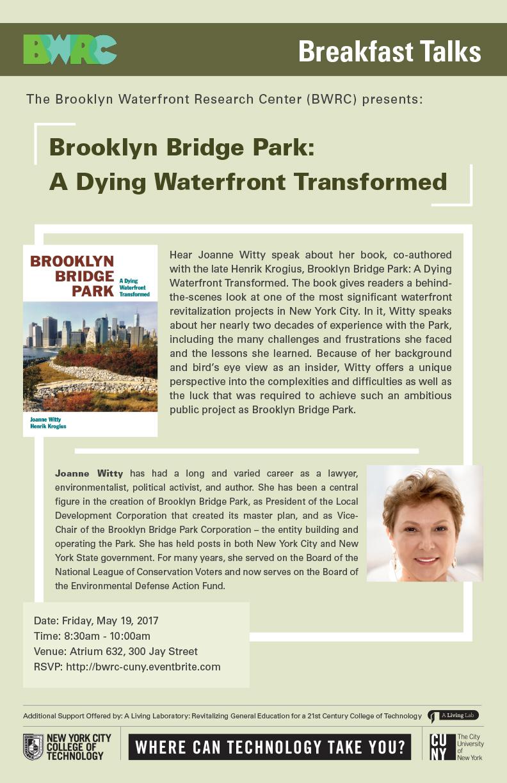 BWRC Breakfast Talk:<br>Brooklyn Bridge Park: A Dying Waterfront Transformed 1