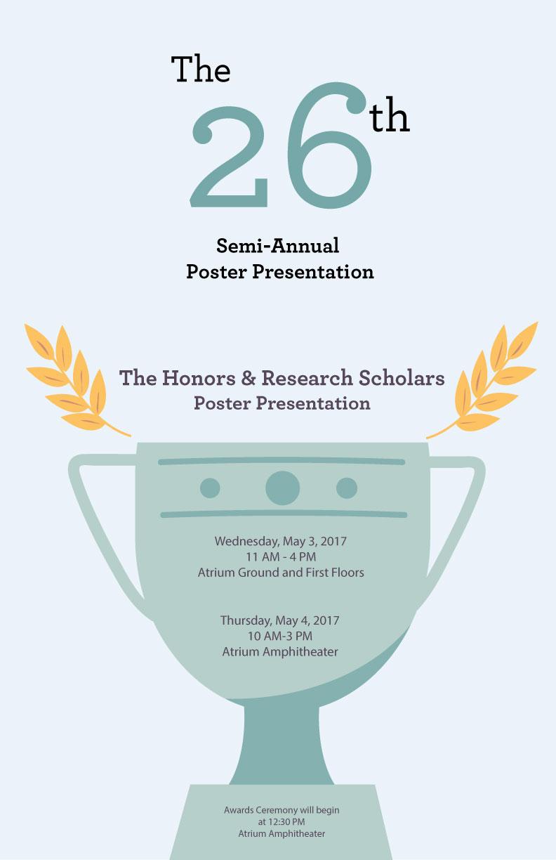 The 26th Semi-Annual Poster Presentation 1