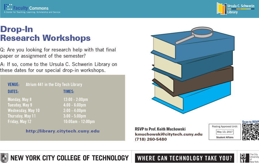 Drop-In Research Workshops 1