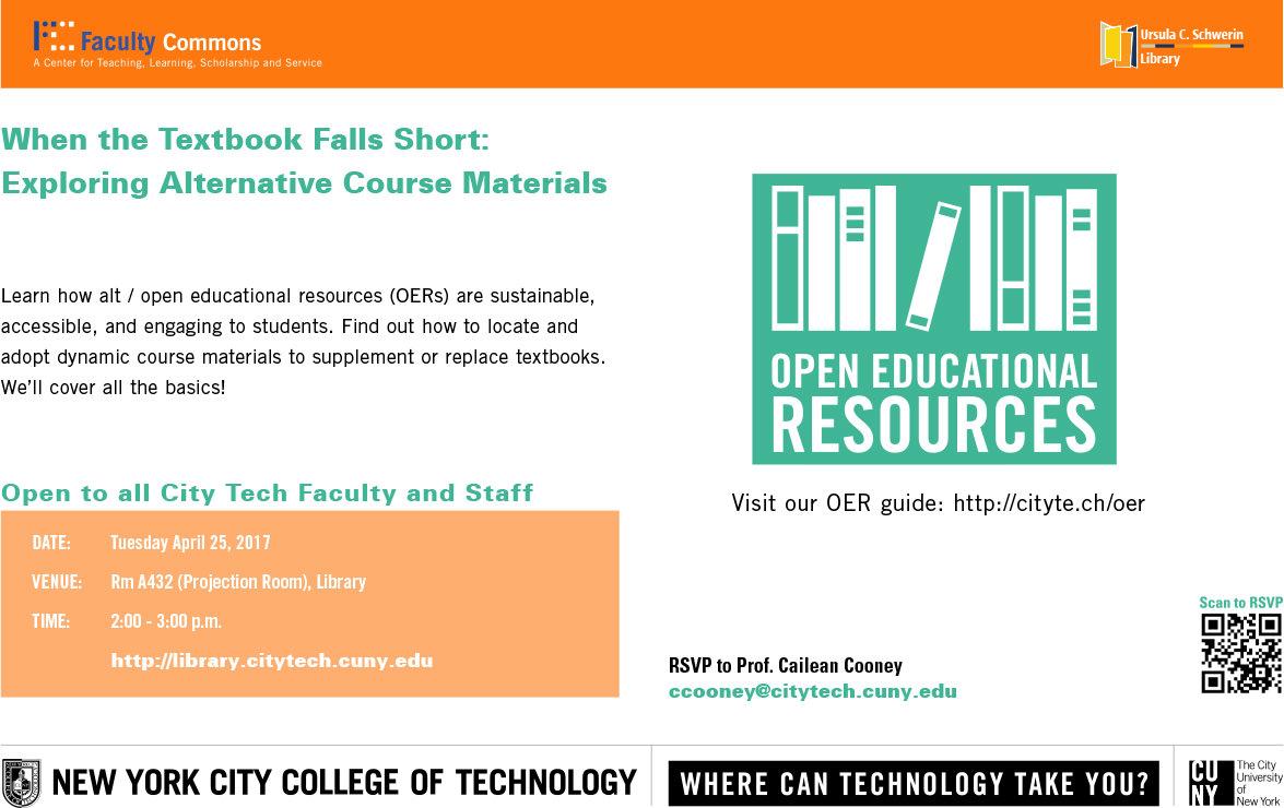 When the Textbook Falls Short:<br>Exploring Alternative Course Materials 1