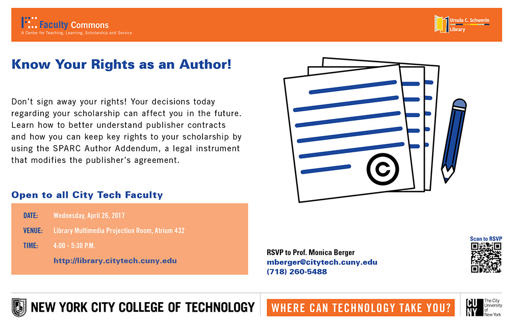 Know Your Rights as an Author! 1