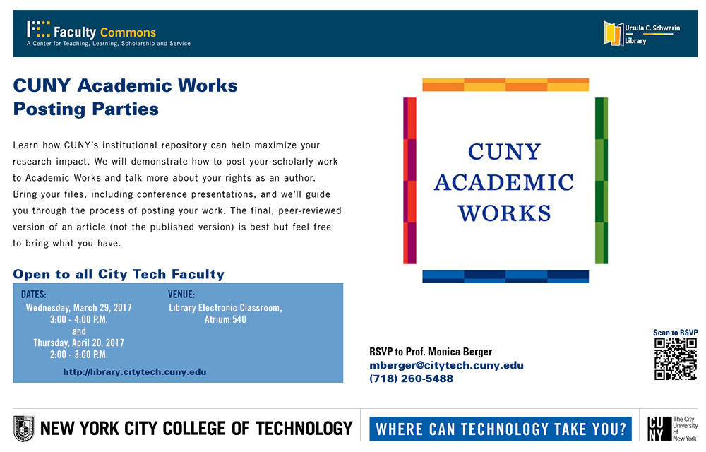 CUNY Academic Works Posting Parties 2