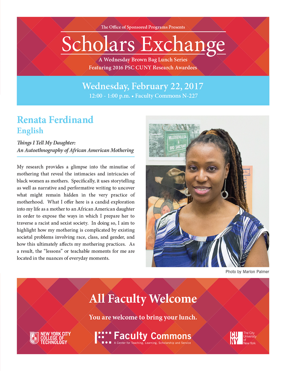 Scholars Exchange<br>Things I Tell My Daughter: An Auto-ethnography of African American Mothering 1
