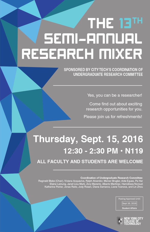 13th Semi-Annual Research Mixer
