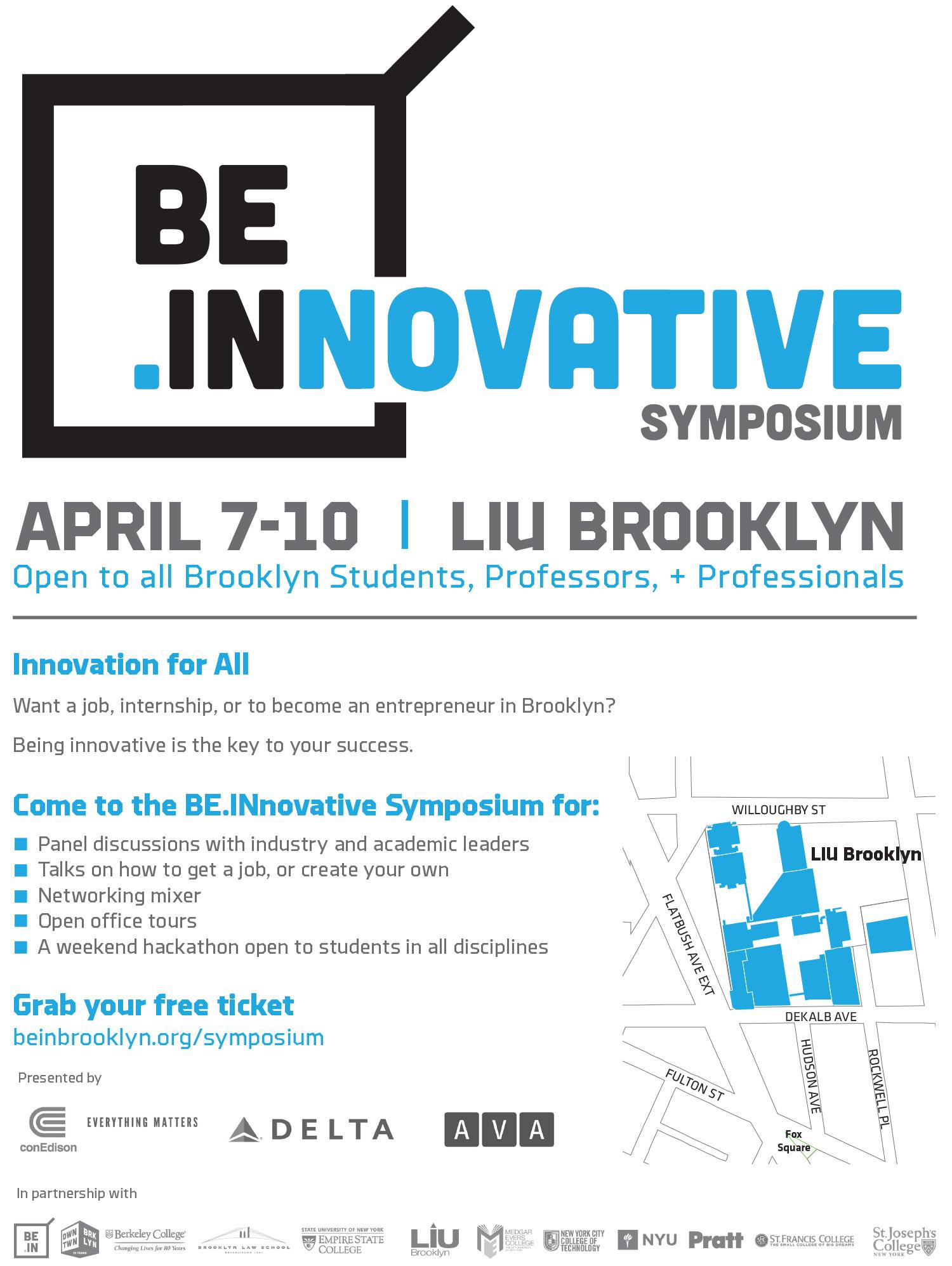 BEINNOVATIVE Symposium Flyer - with school logos