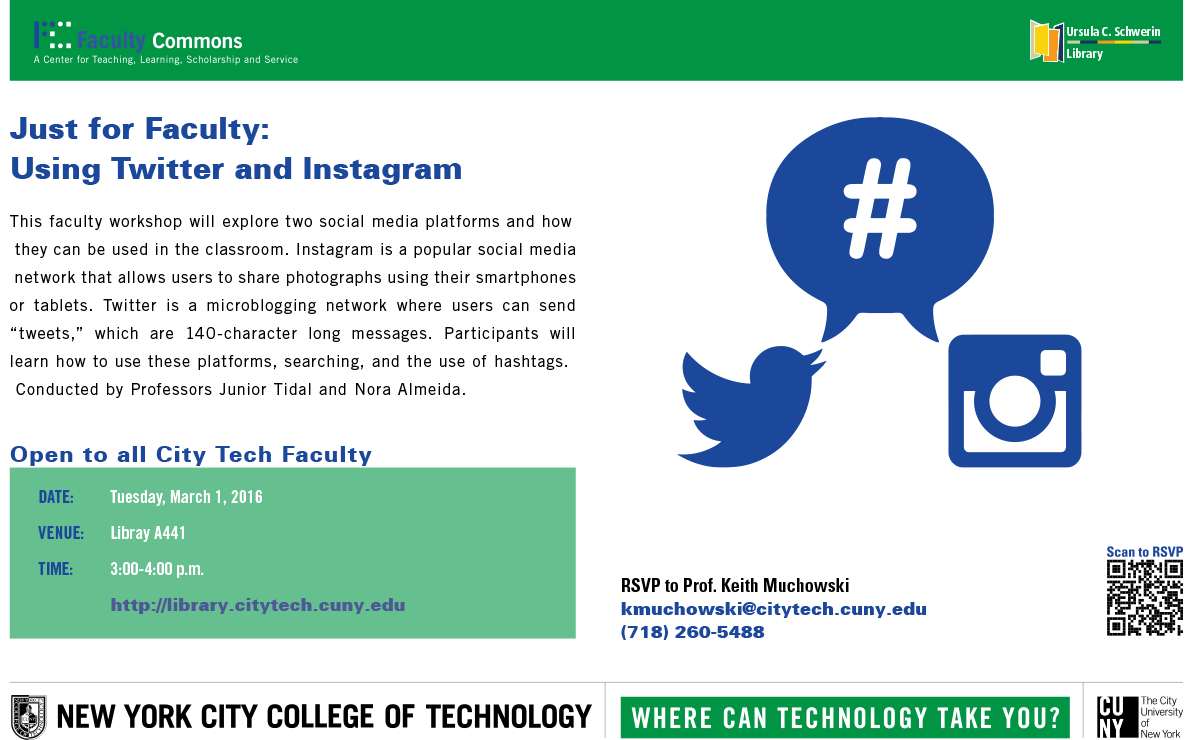 Library: Just for Faculty: Using Twitter and Instagram 1
