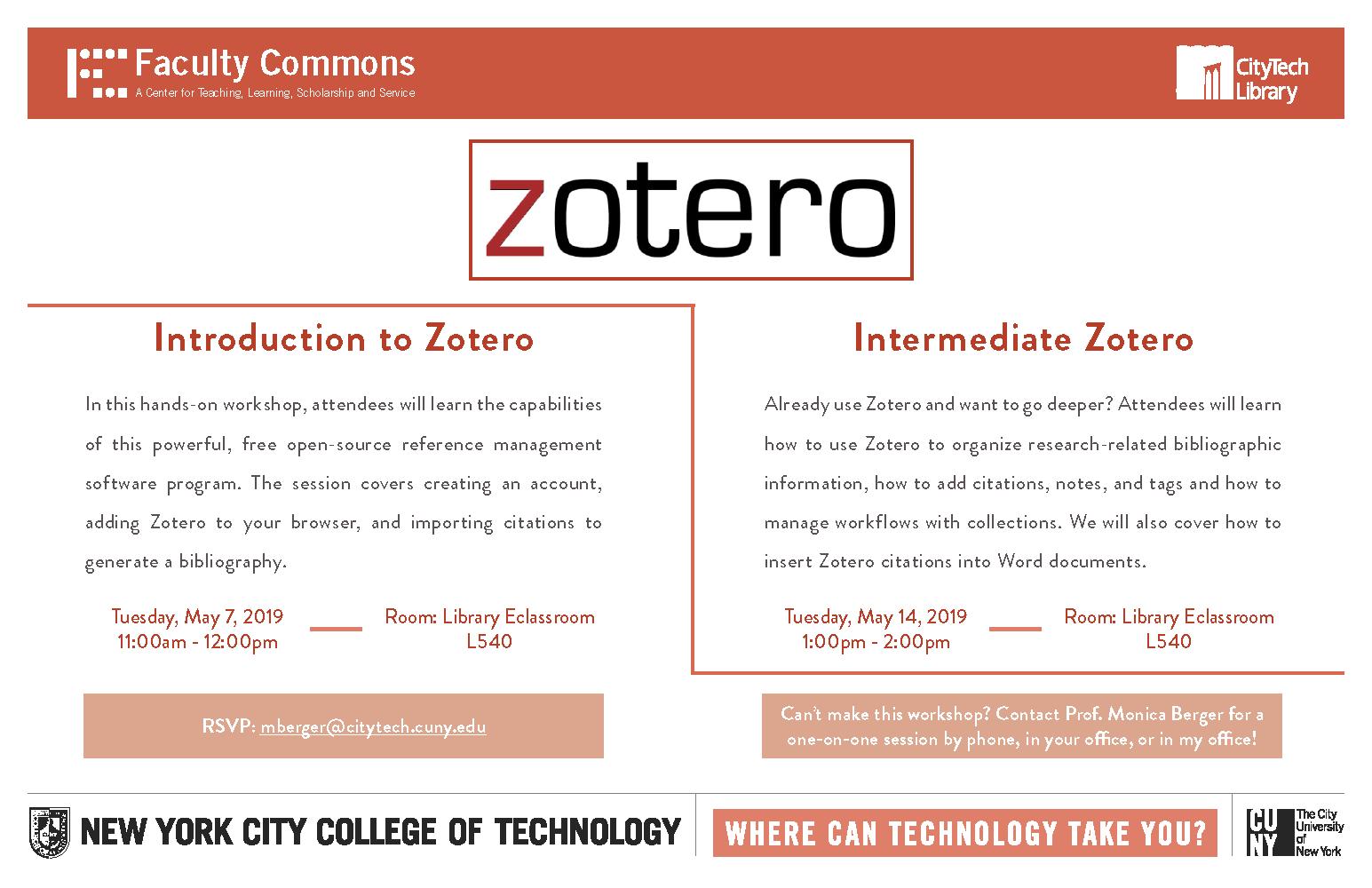 Zotero Workshop 1