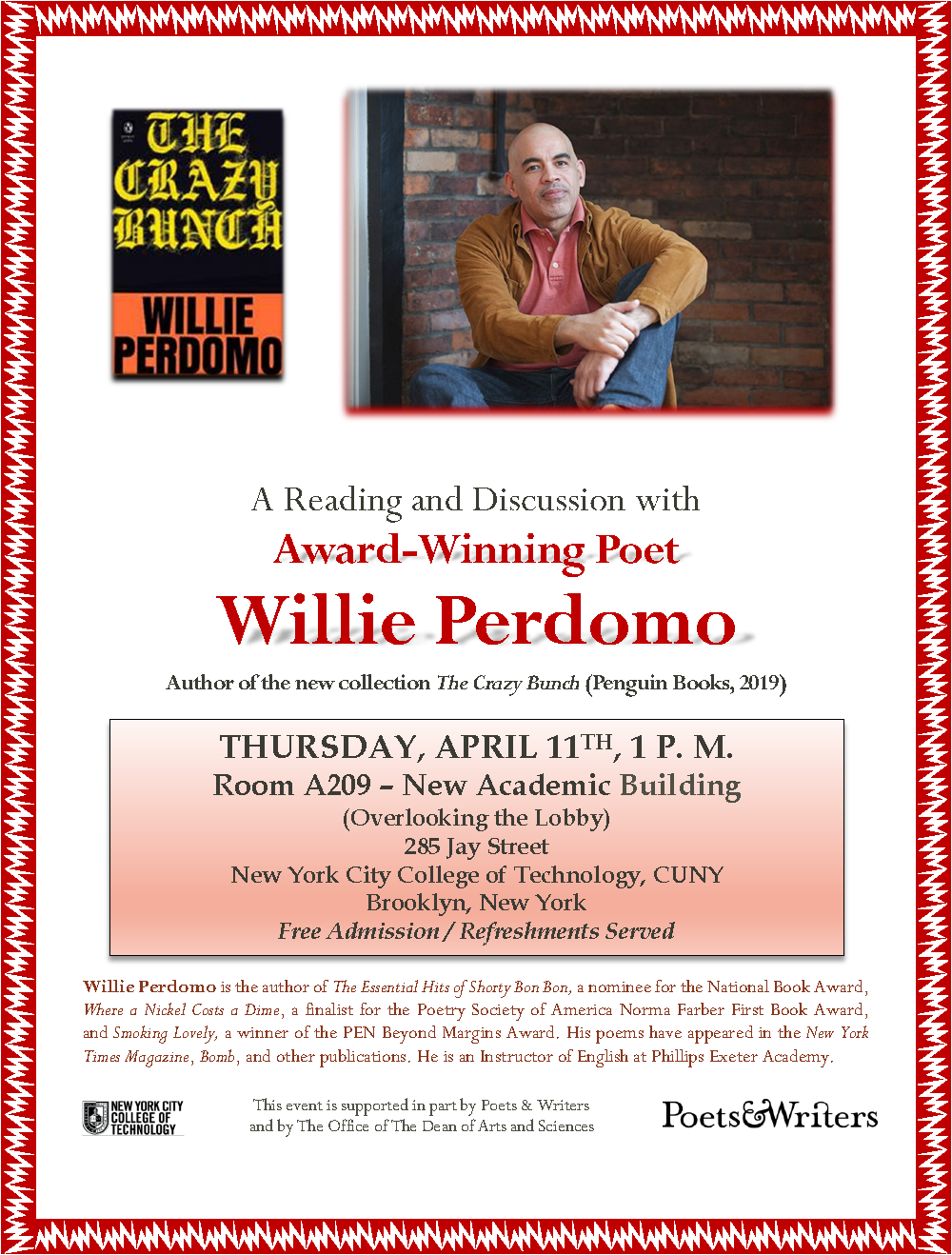 A Reading and Discussion with Award-Winning Poet Willie Perdomo 1