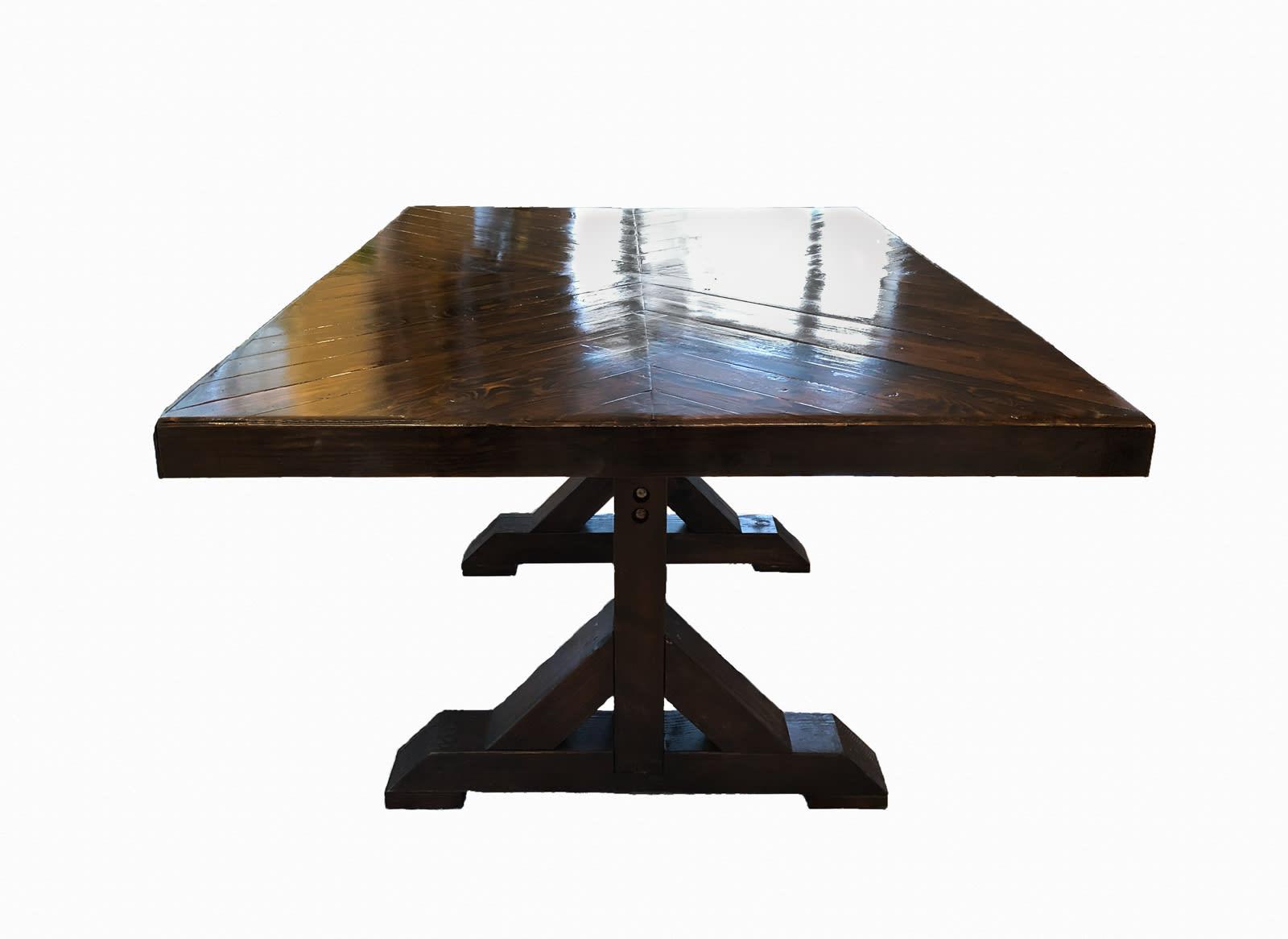 large wooden table dark finish