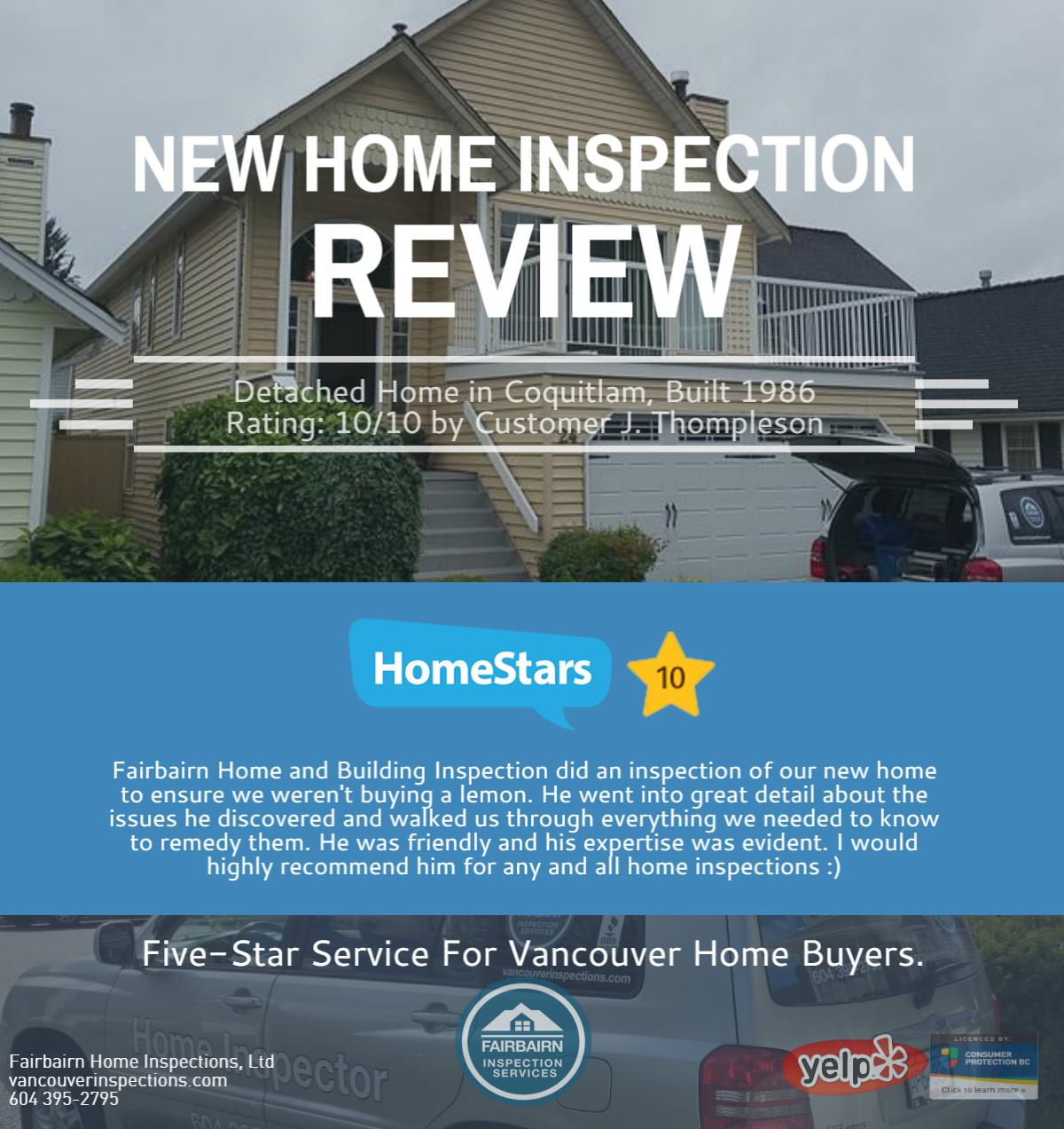 Home Inspector Review Coquitlam