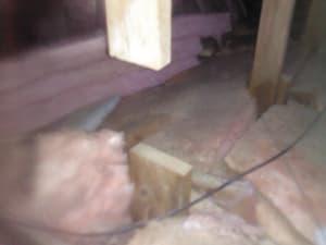 Cut framing members in the attic