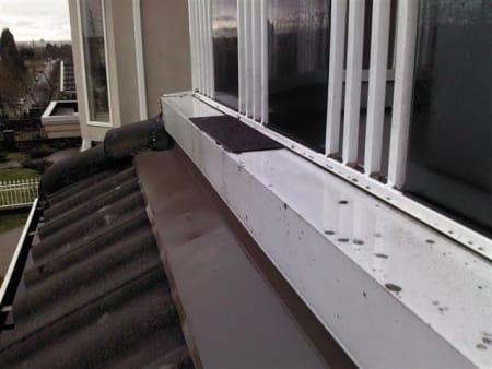 Deck cap flashing repair