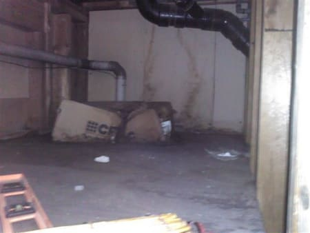 Mold and Leakage Crawlspace