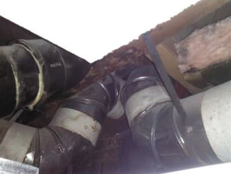 Asbestos Heating Duct Wrap