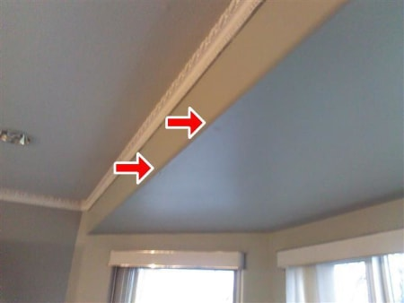 Living room ceiling deck leak