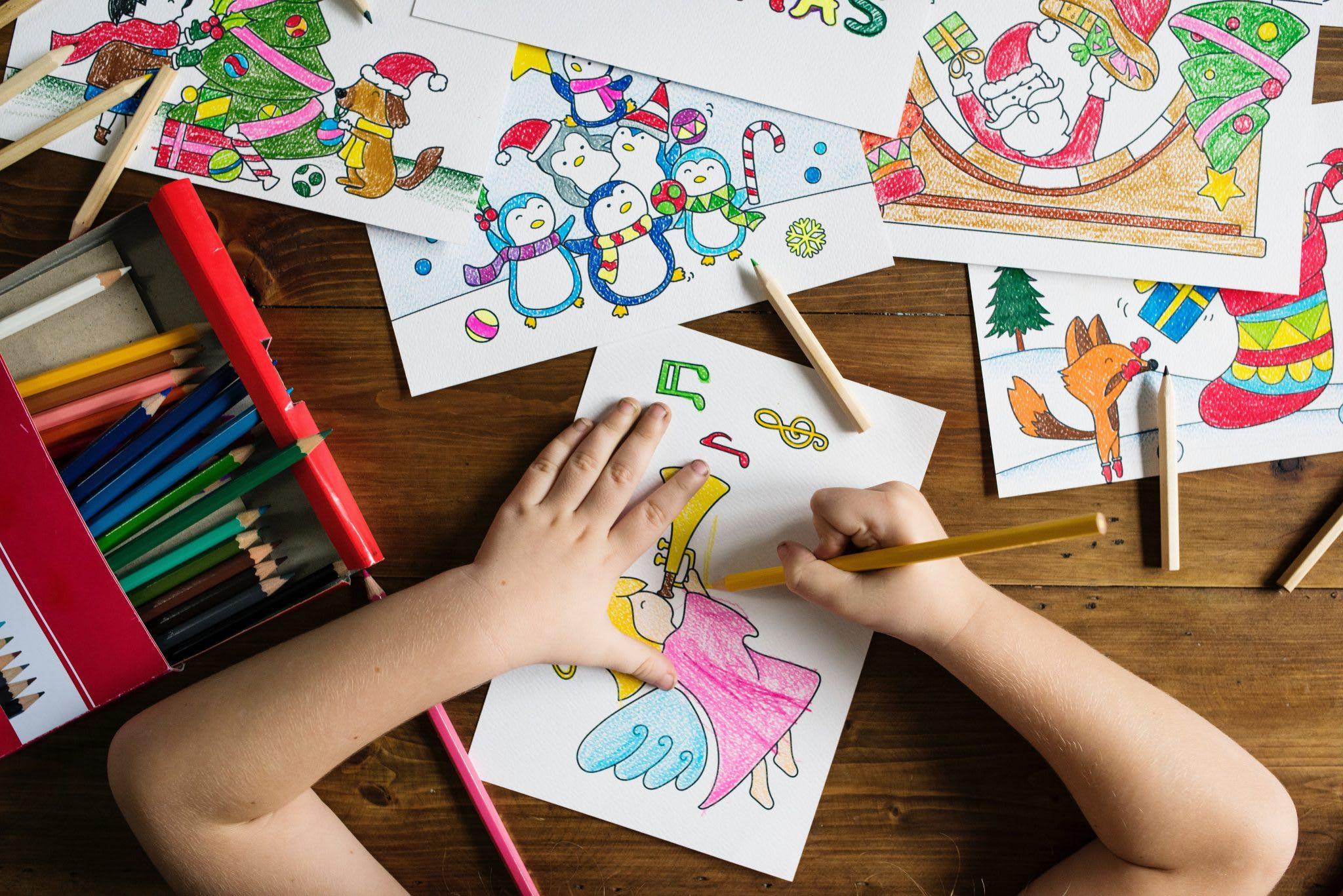 Contact Precious Moments Montessori - Child coloring
