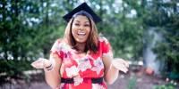Happy college graduate