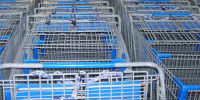 Shopping carts at Walmart